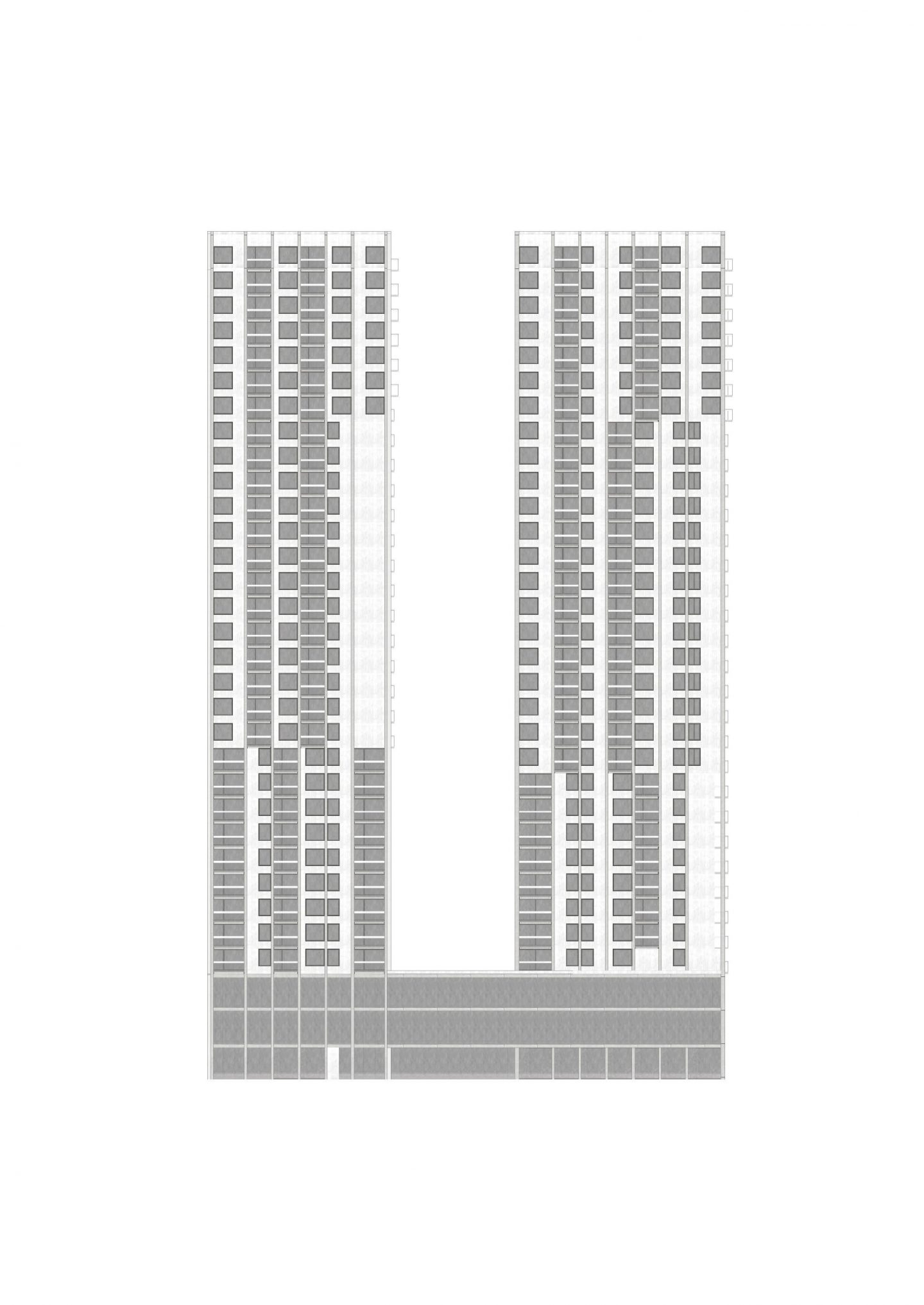 High-Rise Buildings West, Spreitenbach AG. Hildebrand Studios AG, Architecture and Urban Design in Zurich, Switzerland