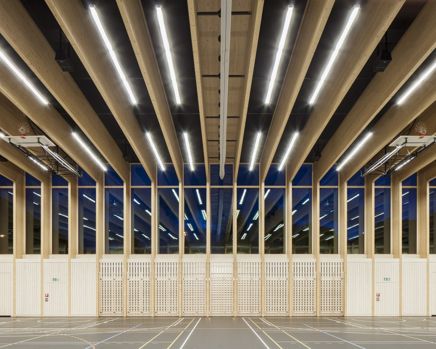 Sports Center Sargans, Sargans. Hildebrand Studios AG, Architecture and Urban Design in Zurich, Switzerland
