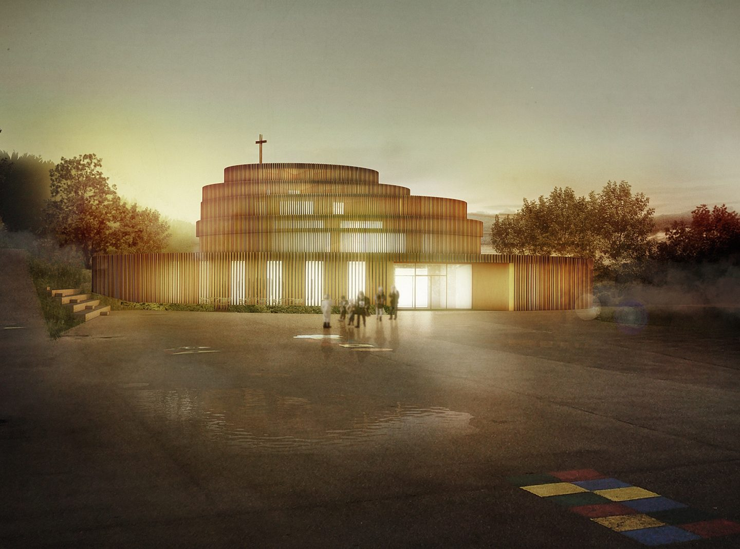 St. Thomas Church, Inwil ZG. Hildebrand Studios AG, Architecture and Urban Design in Zurich, Switzerland